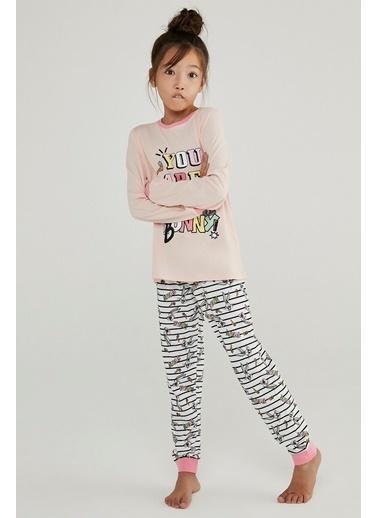 Penti Kız Çocuk Çok Renkli Bugs Bunny 2'li Pijama Takım PN0W1RB620SK Renkli